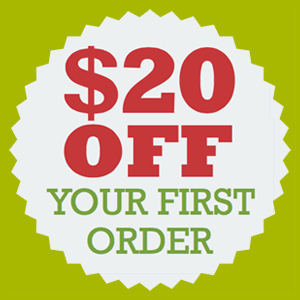 $20 OFF Your First Order!
