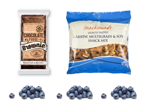 Blueberries are on Special; Chocolate Fudge; Cashew & Soy Snack Mix